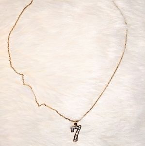 """Juicy Cuture Gold """"7"""" Necklace"""